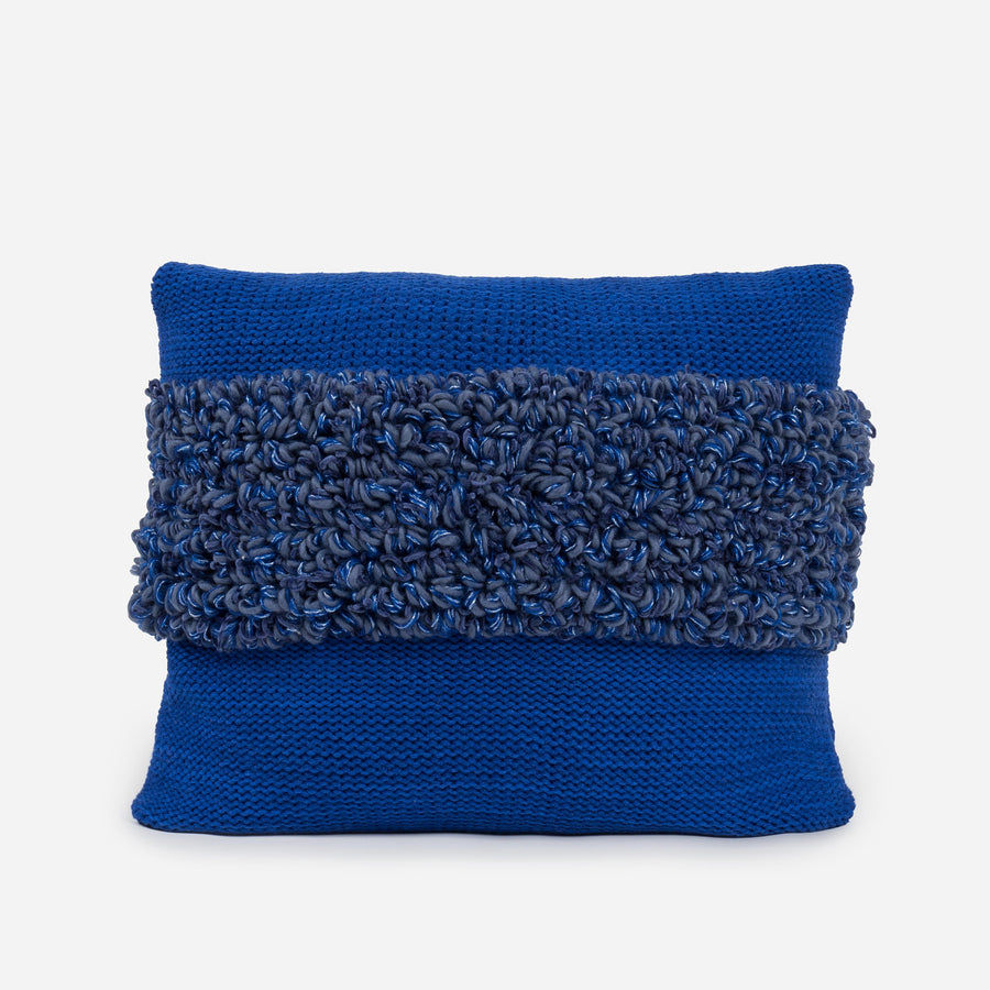 Blue | Loop Shapes Repurposed Pillow Cover