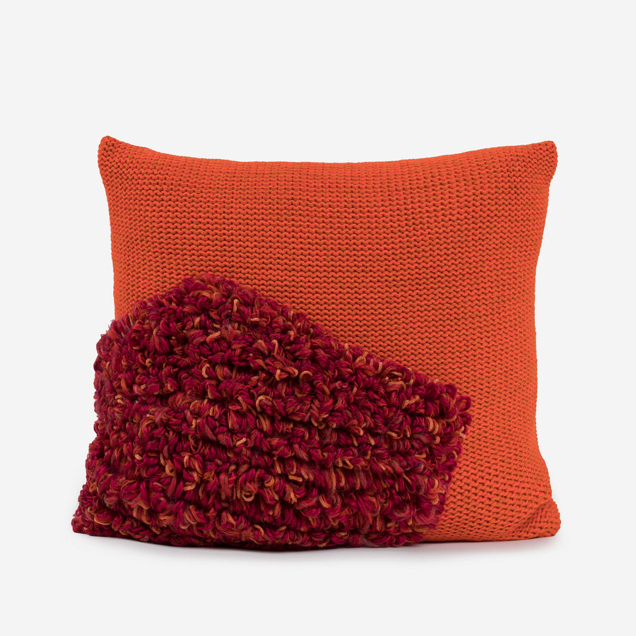 Rust | Loop Shapes Repurposed Pillow Cover