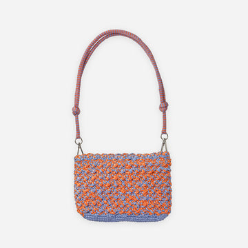 Coral Dusty Violet | Crochet Zipper Bag