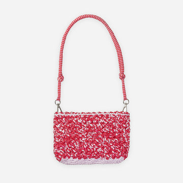 Red Lilac | Crochet Zipper Bag