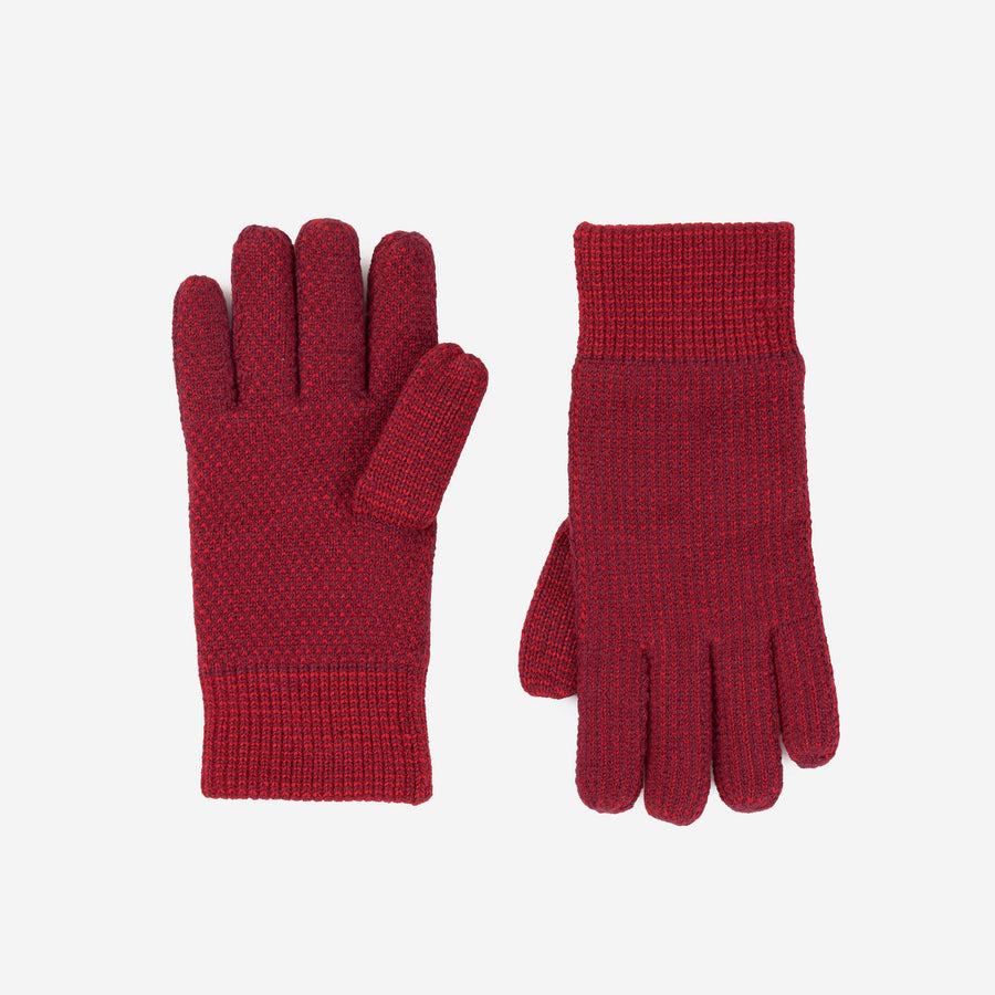 Red | Mixed Stitch Gloves Stretch Lined Gloves