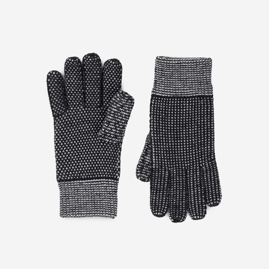 Rust | Mixed Stitch Gloves Stretch Lined Gloves