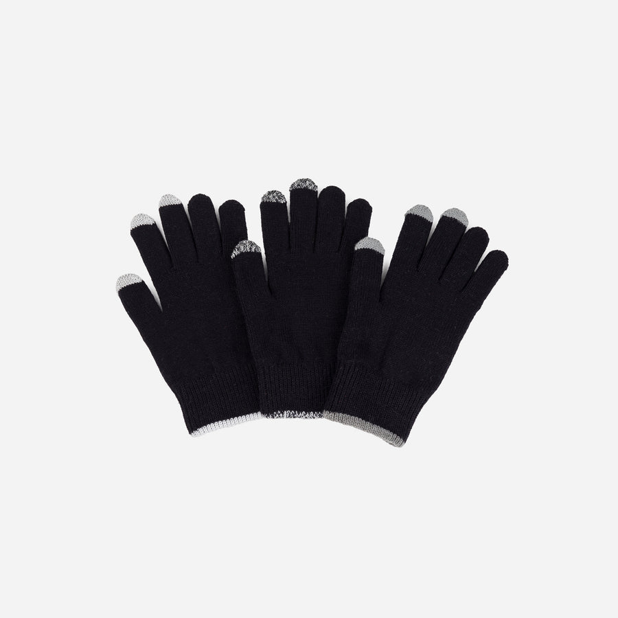 Black | Pair and a Spare 3 Three Touchscreen Gloves