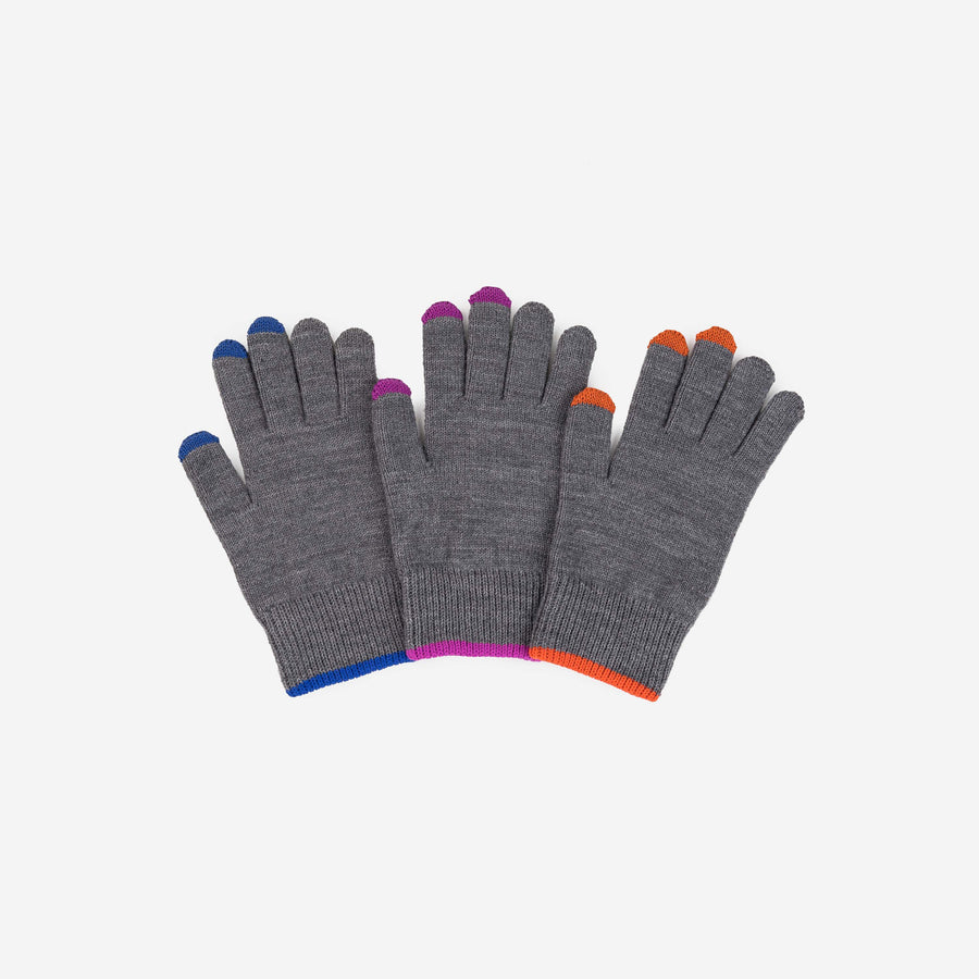 Grey | Pair and a Spare 3 Three Gloves