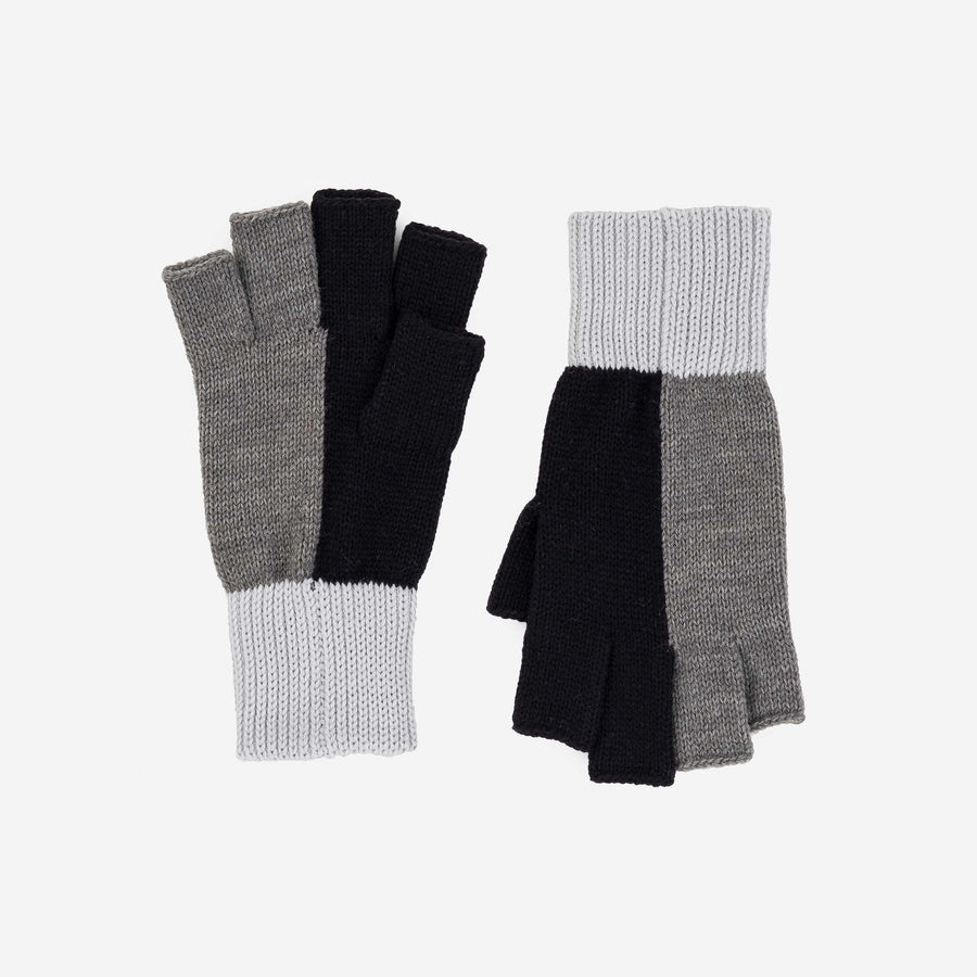 Black Grey | Polder Colorblock Fingerless Gloves