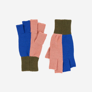 Moss Cobalt | Polder Colorblock Fingerless Gloves