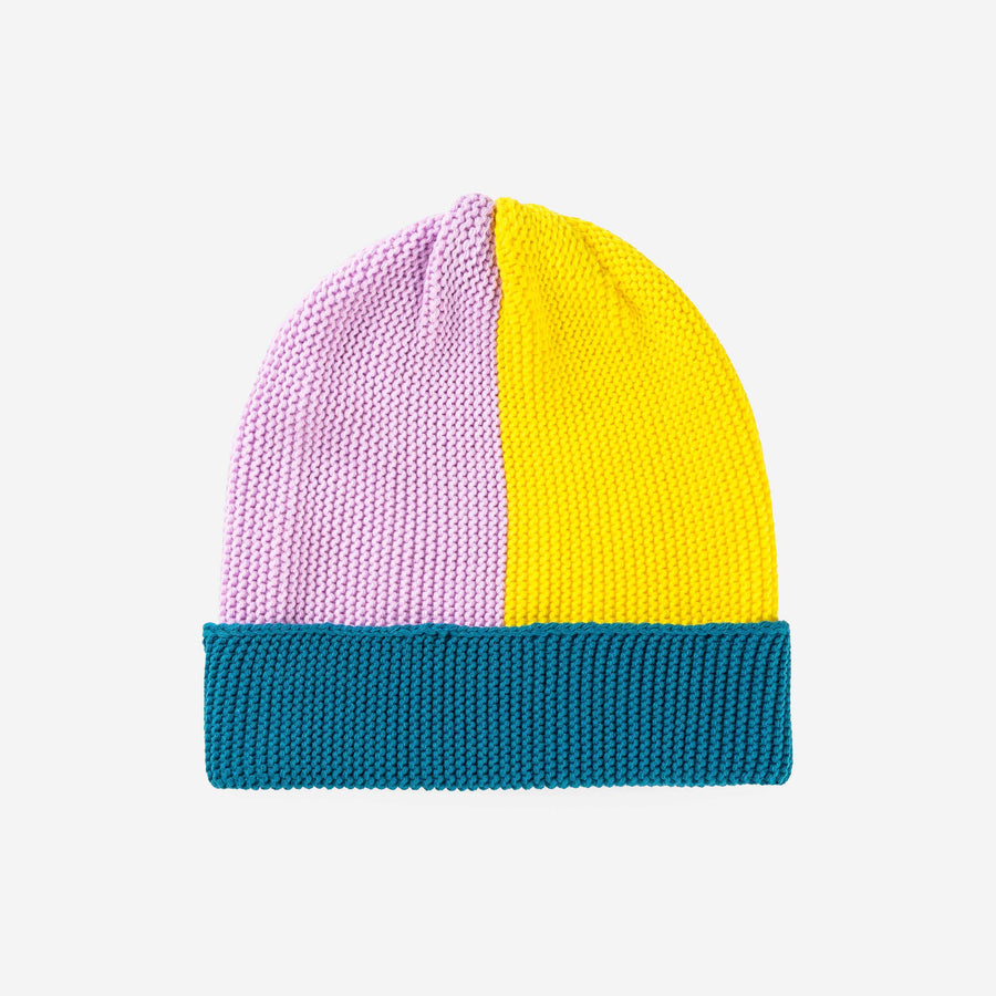Lilac Yellow | Polder Colorblock Cuff Hat