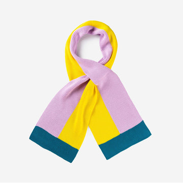 Lilac Yellow | Polder Colorblock Scarf Pull through Unisex
