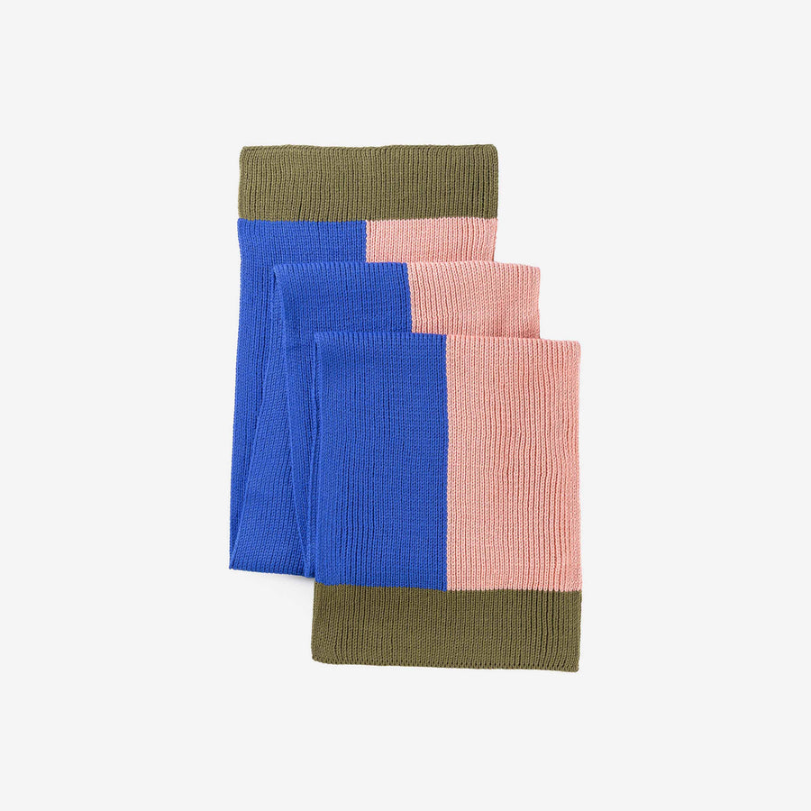 Moss Cobalt | Polder Colorblock Scarf Pull through Unisex