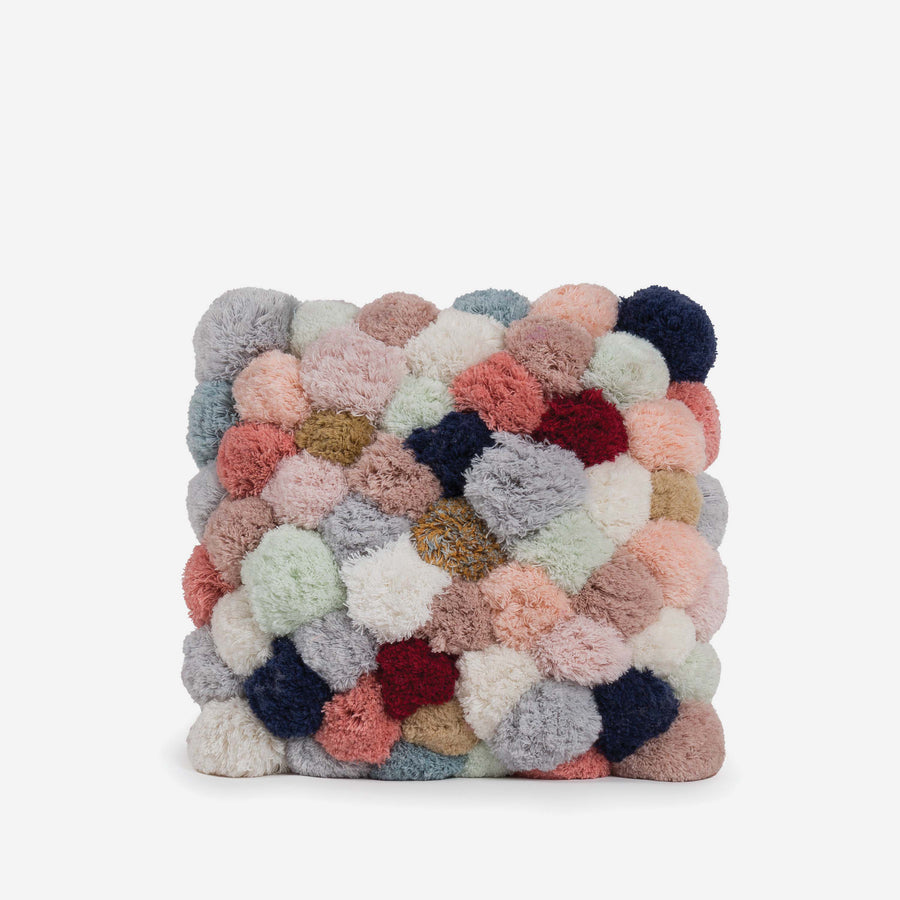 Pale Neutrals / Accent 14x14 | Pom Pillow Verloop Of A Kind Recycled Repurposed Pom Pillow
