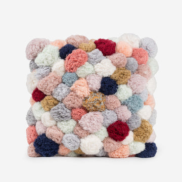 Pale Neutrals / Full 18x18 | Pom Pillow Verloop Of A Kind Recycled Repurposed Pom Pillow