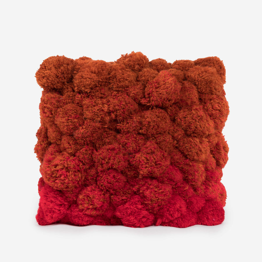 Rust | All Over Gradient Pom Pillow Repurposed
