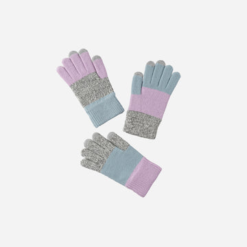 Lilac | Pair and Spare Three 3 Gloves Set Kids