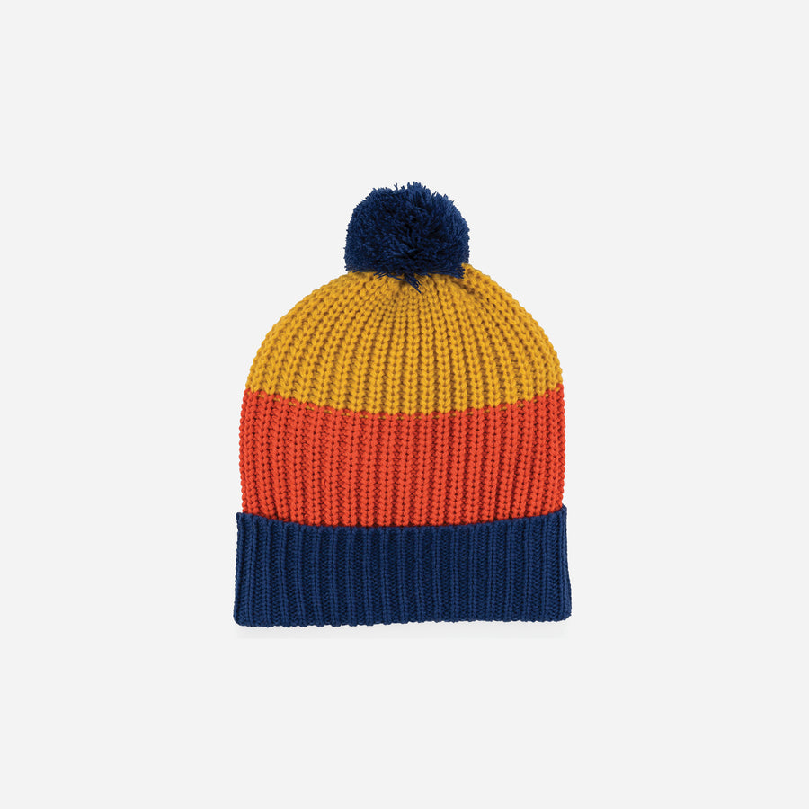 Yellow | Kids Pom Hat Knit