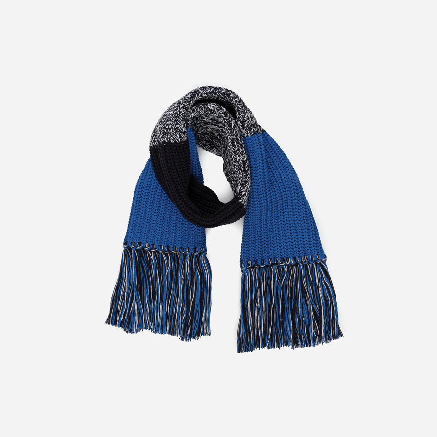 Black | Kids Fringe Scarf Colorblock