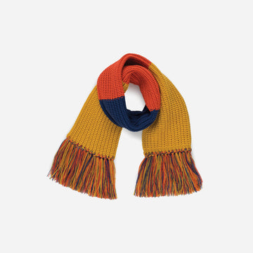 Yellow | Kids Fringe Scarf Colorblock