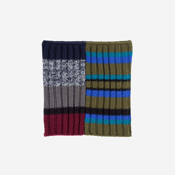 Moss Cobalt | Patchwork Snood Stripes