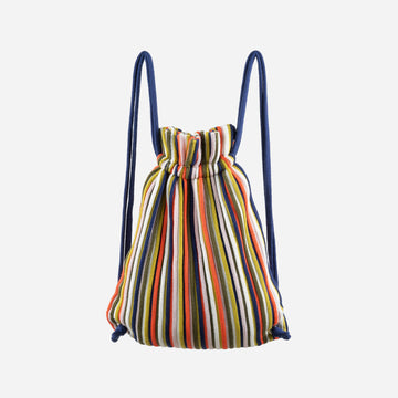 Multi 1 | Rib Drawstring Backpack Stripe