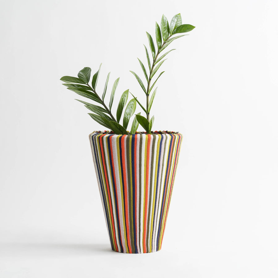 Multi 1 | Rib Stripe Stretch Eco Planter Sleeve