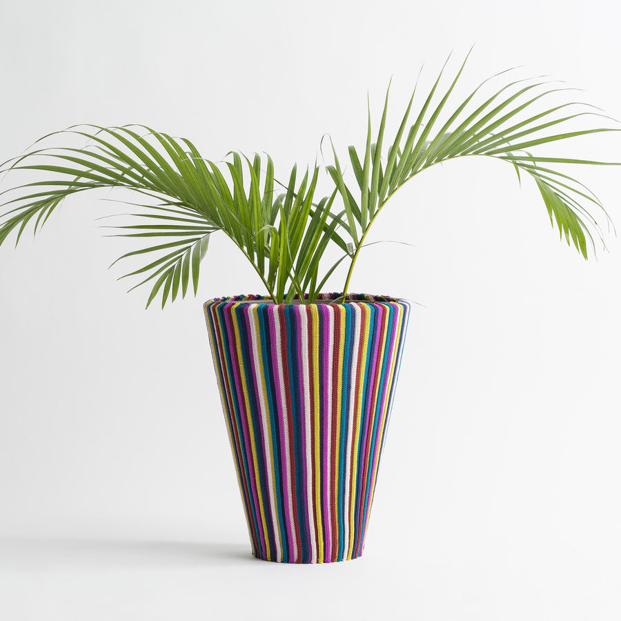 Multi 2 | Rib Stripe Stretch Eco Planter Sleeve