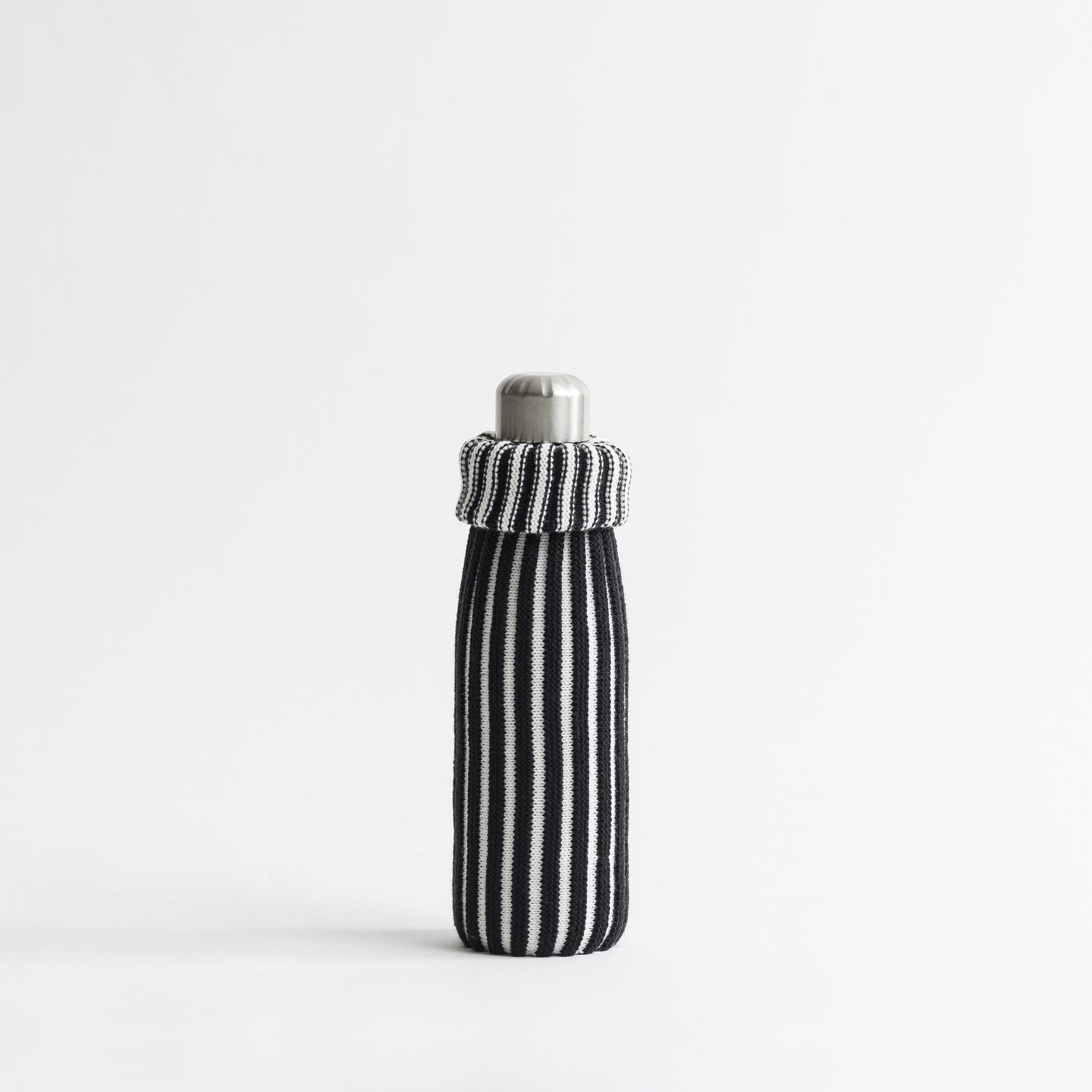 Rib Knit Striped Bottle Sleeve