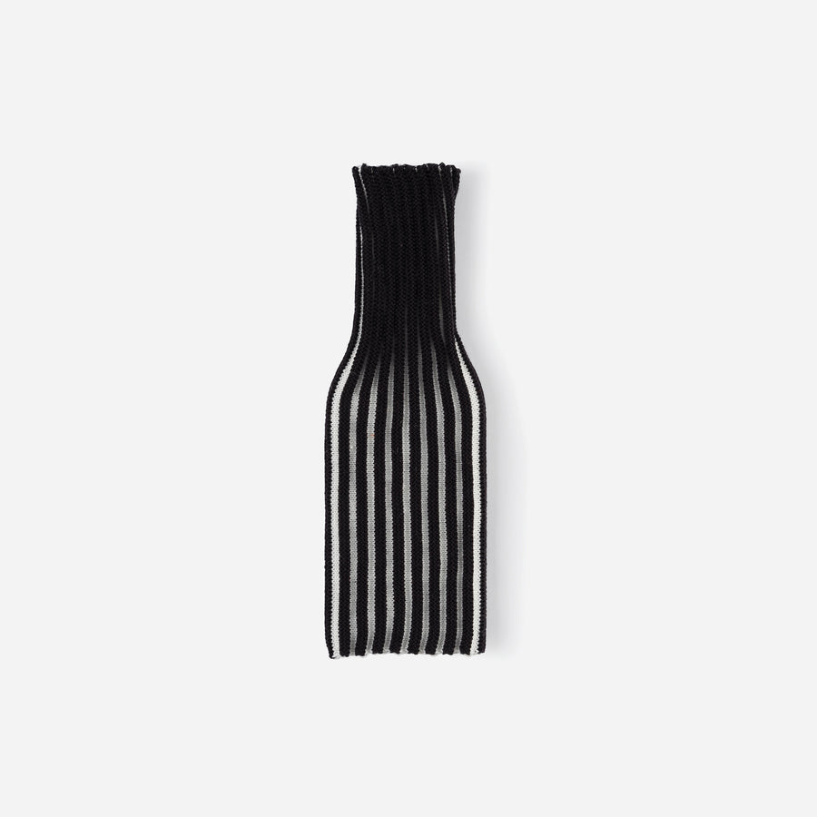 Black White | Rib Knit Striped Bottle Sleeve
