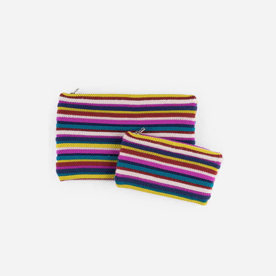 Multi 2 | Rib Pouch Stripe Zip Set