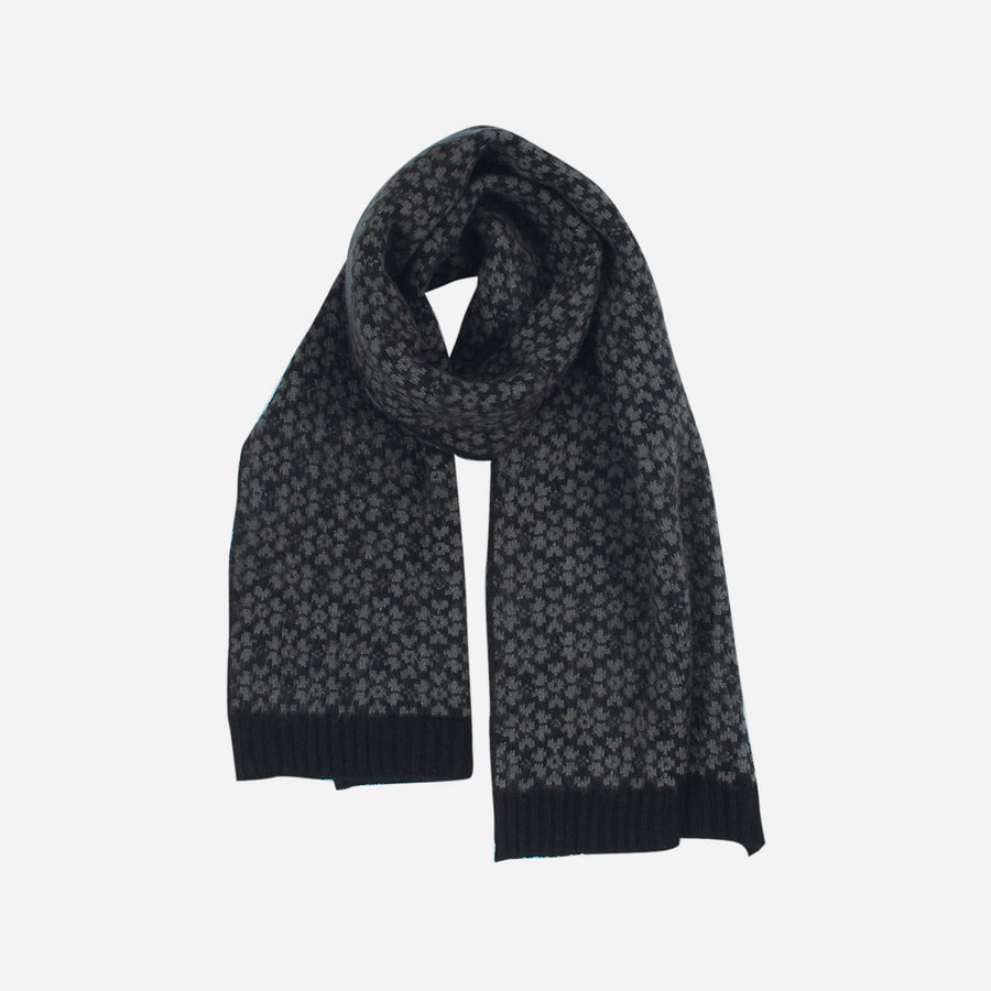 Black | Sakura Floral Knit Scarf Sale