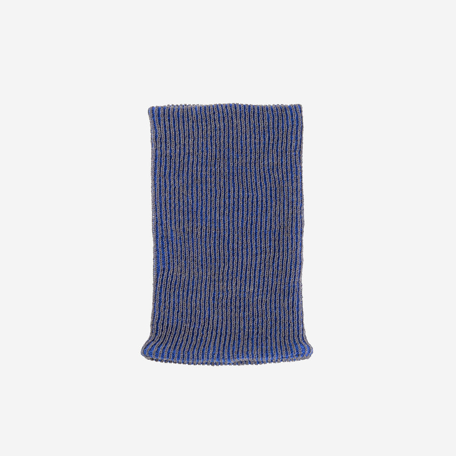 Blue Grey | Simple Rib Snood Knit Tube Stretch Soft Scarf