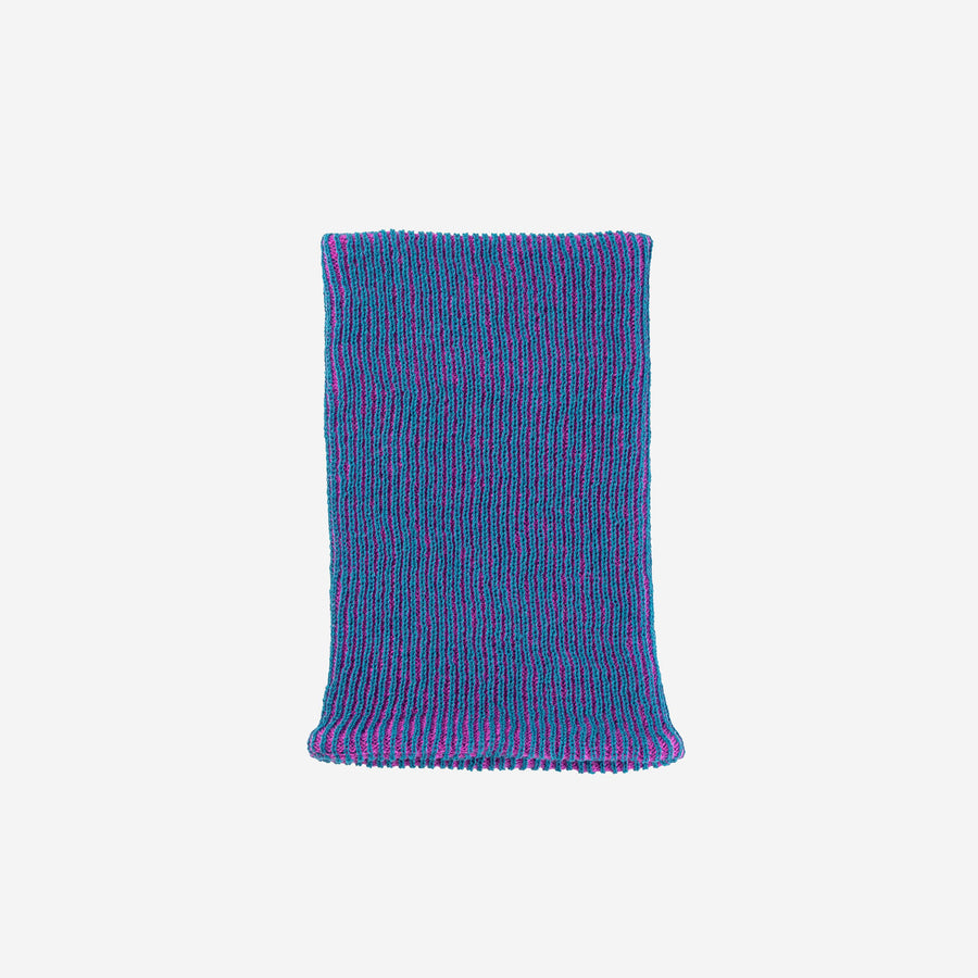 Teal Magenta | Simple Rib Snood Knit Tube Stretch Soft Scarf