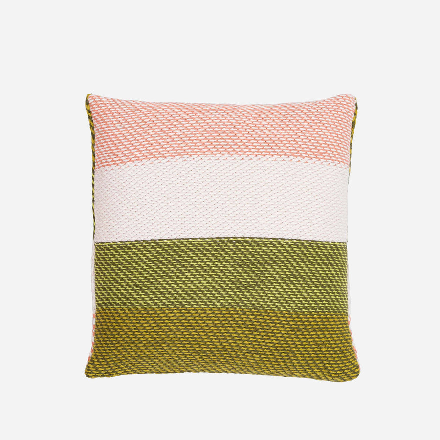 Moss Pink | Slant Stripes Diagonal Knit Pillow Cover Gradient