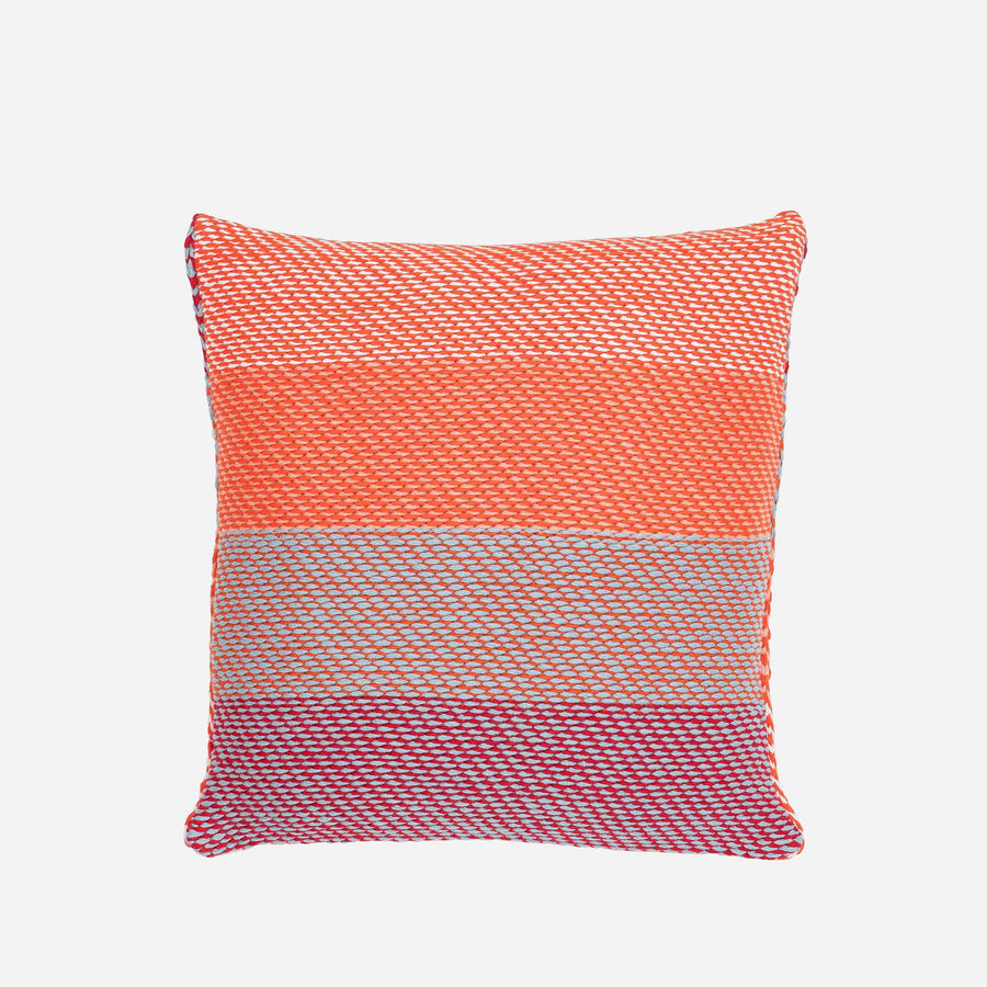 Poppy Stone Blue | Slant Stripes Diagonal Knit Pillow Cover Gradient