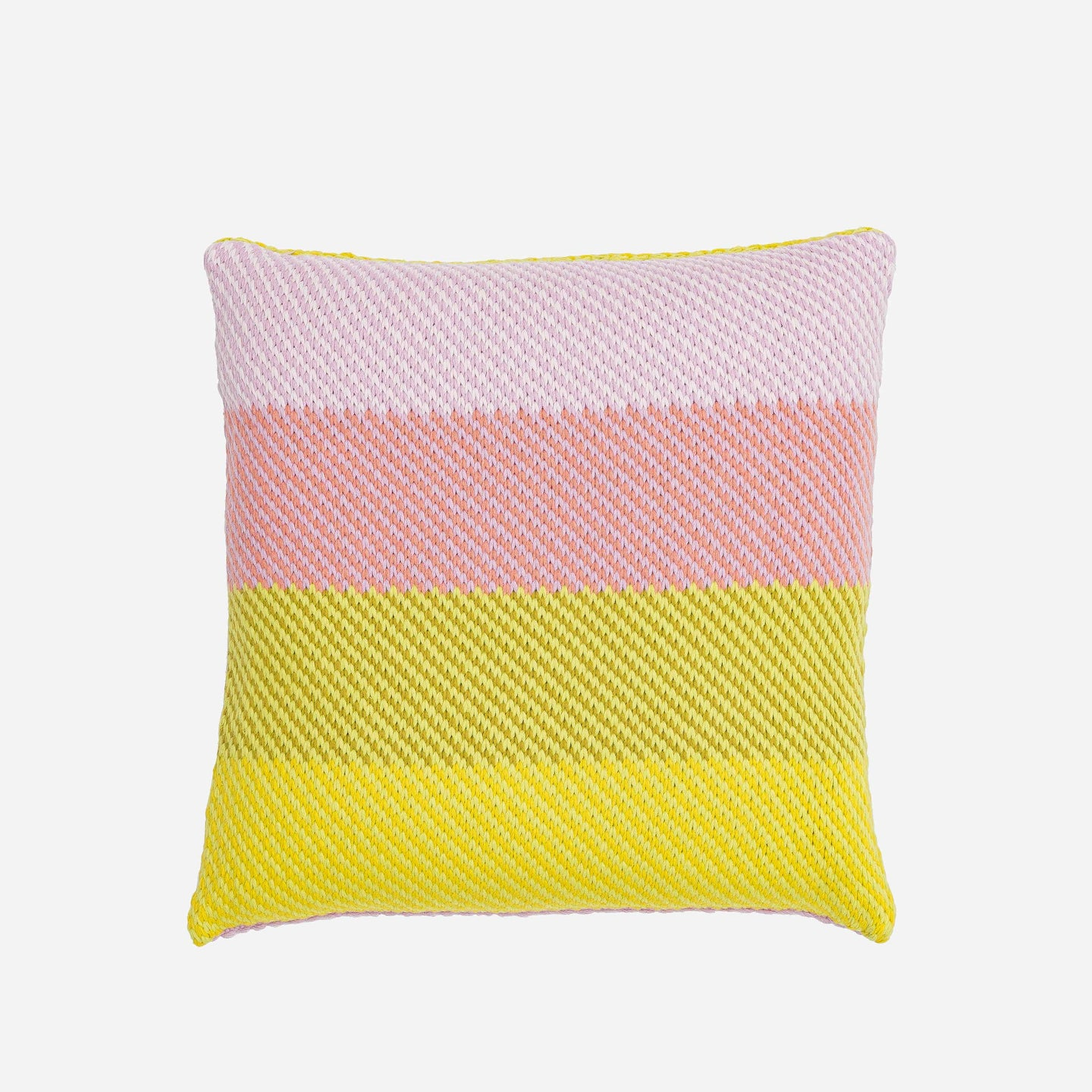 Slant Stripes Diagonal Knit Pillow Cover Gradient