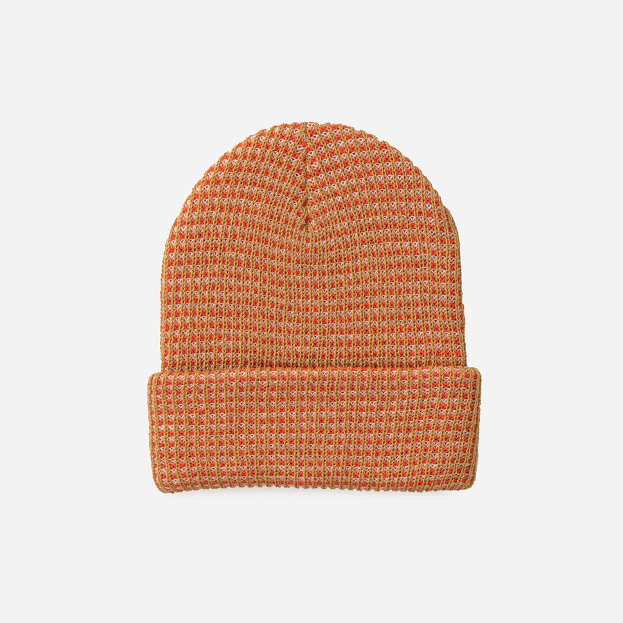 Camel Poppy | Grid Simple Rib Hat