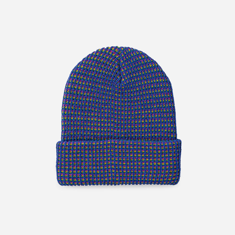 Cobalt Yellow | Grid Simple Rib Hat