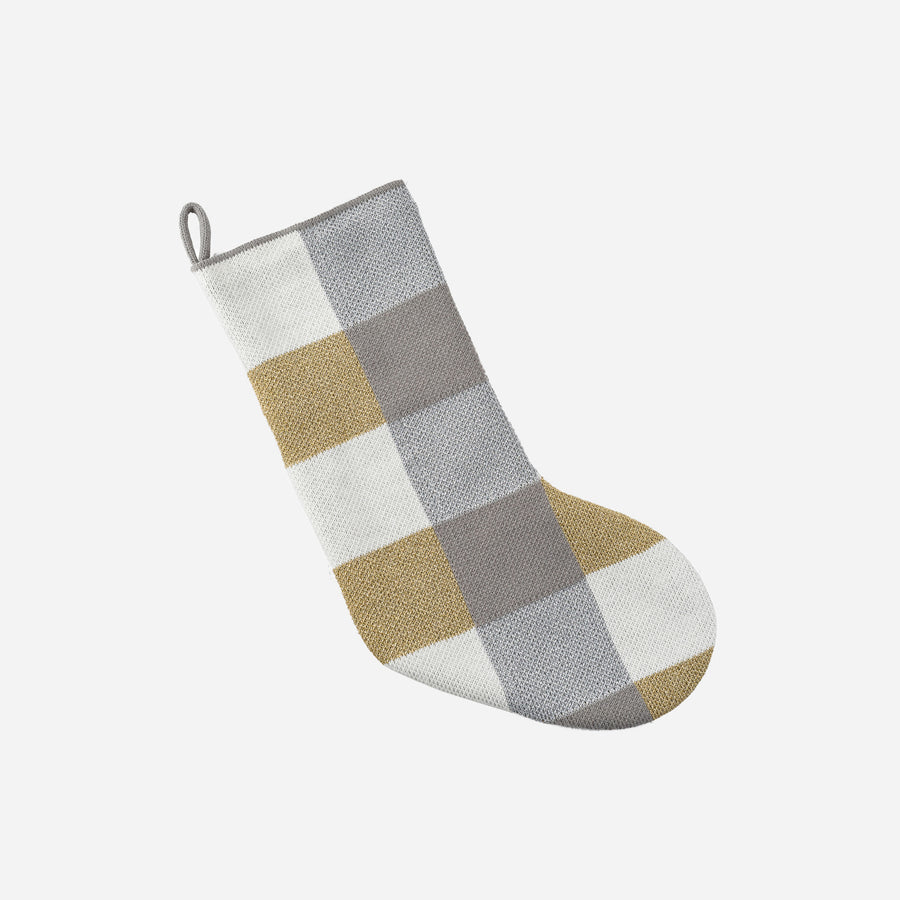 Black Grey | Knit Holiday Sock Stocking Gifts