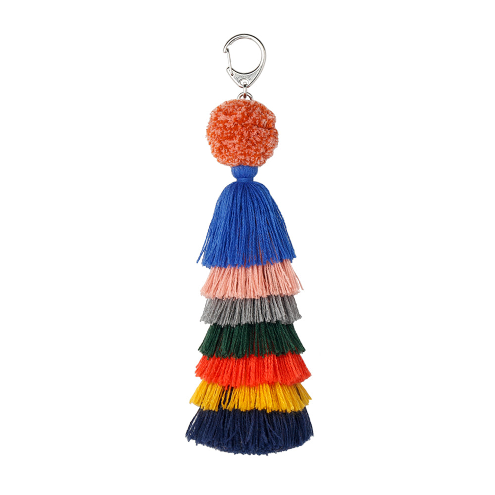 Stacked Tassel Chain Charm