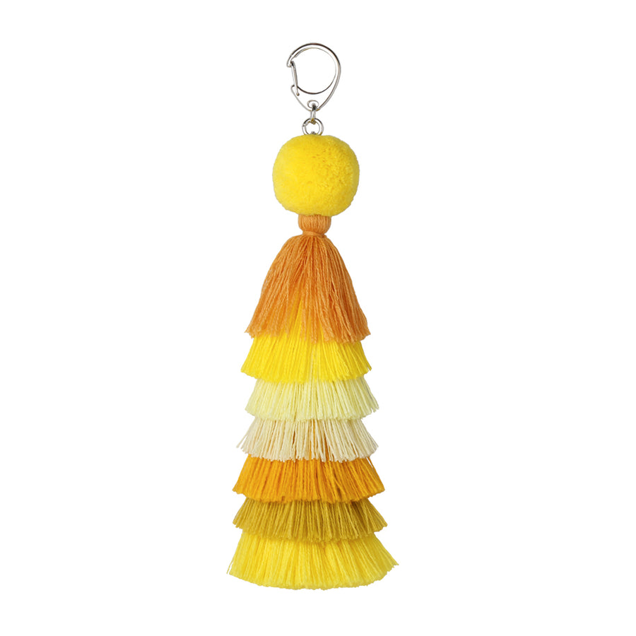 Yellow | Stacked Tassel Chain Charm