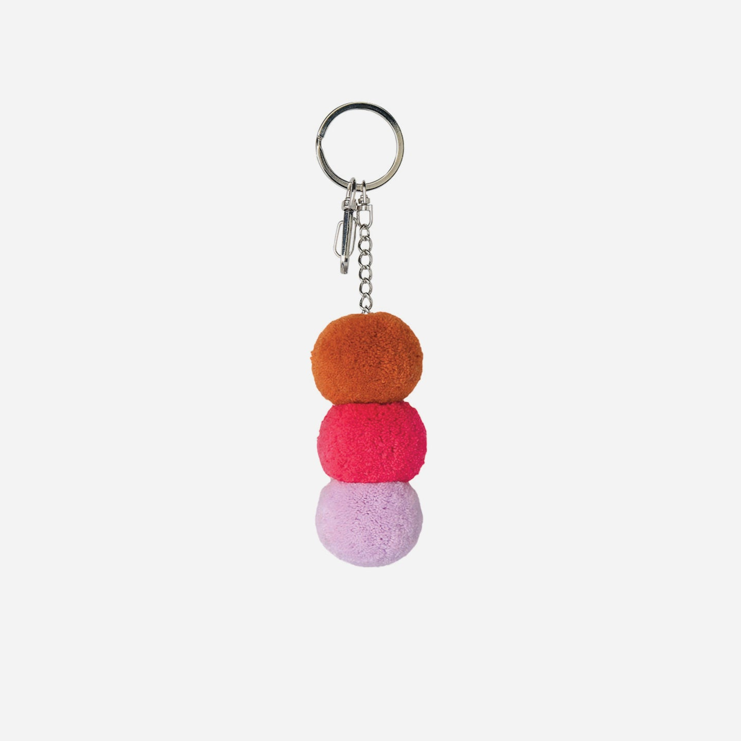 Stacked Pom Key Chain Charm