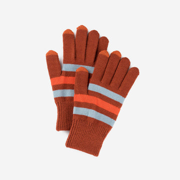 Stone Blue Rust | Stripe Touchscreen Gloves