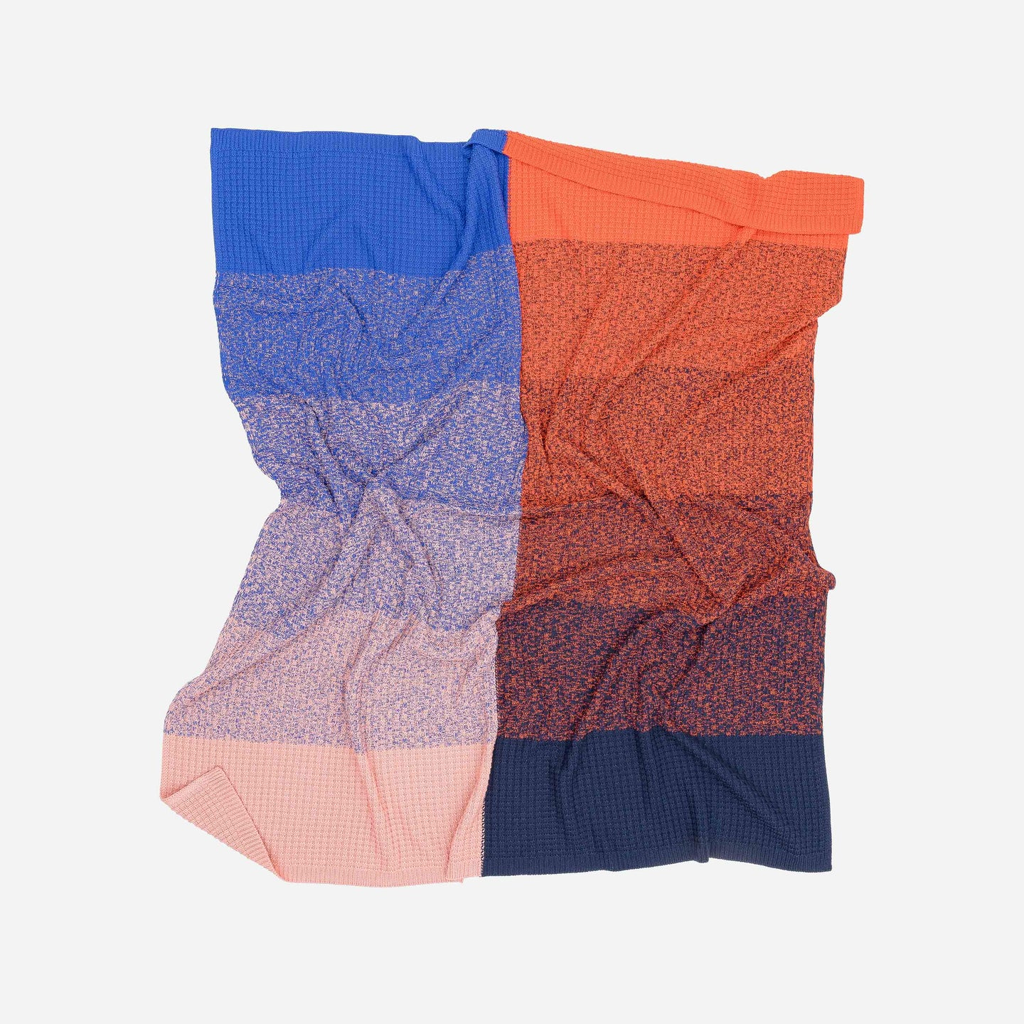 Sunrise Sunset Gradient Ombre Knit Throw Blanket