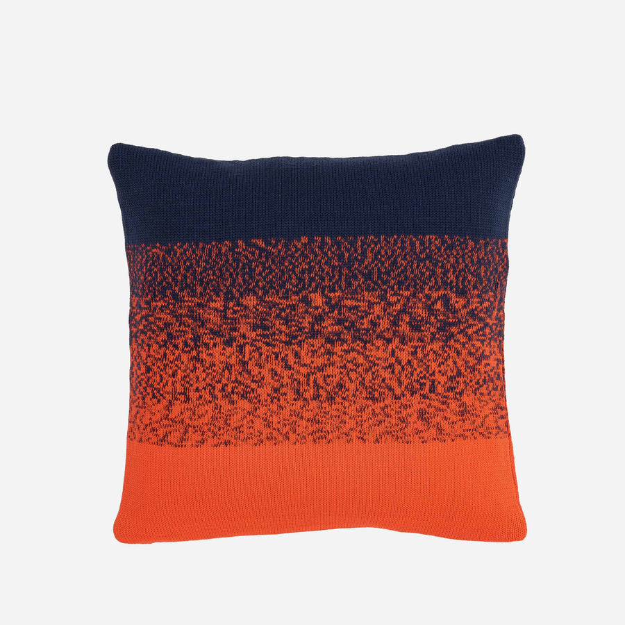 Navy Red | Sunrise Sunset Circle Gradient Ombre Stripe Pillow Case