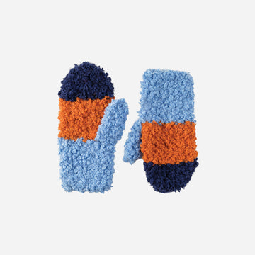 Blue | Teddy Fur Mittens Kids