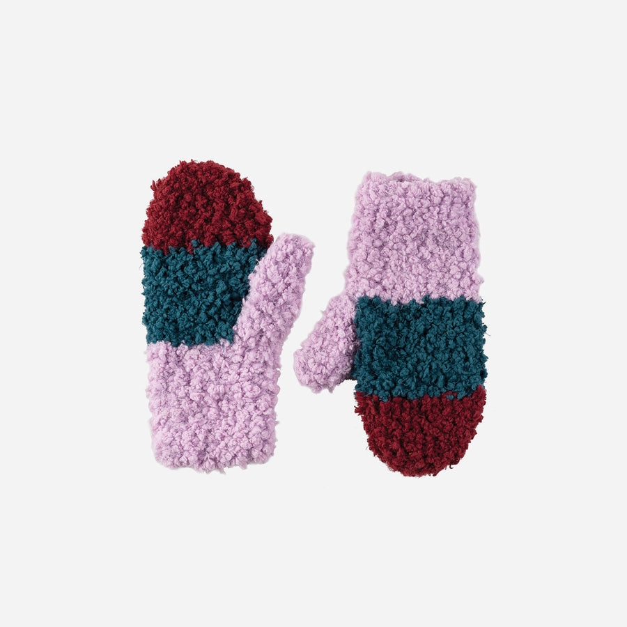 Lilac | Teddy Fur Mittens Kids