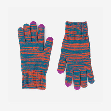 Teal | Twist Touchscreen Gloves Stretch Random Stripes