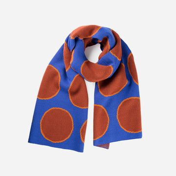 Cobalt | Eclipse Dot Umbra Scarf Jacquard Polka Dot Pattern Large