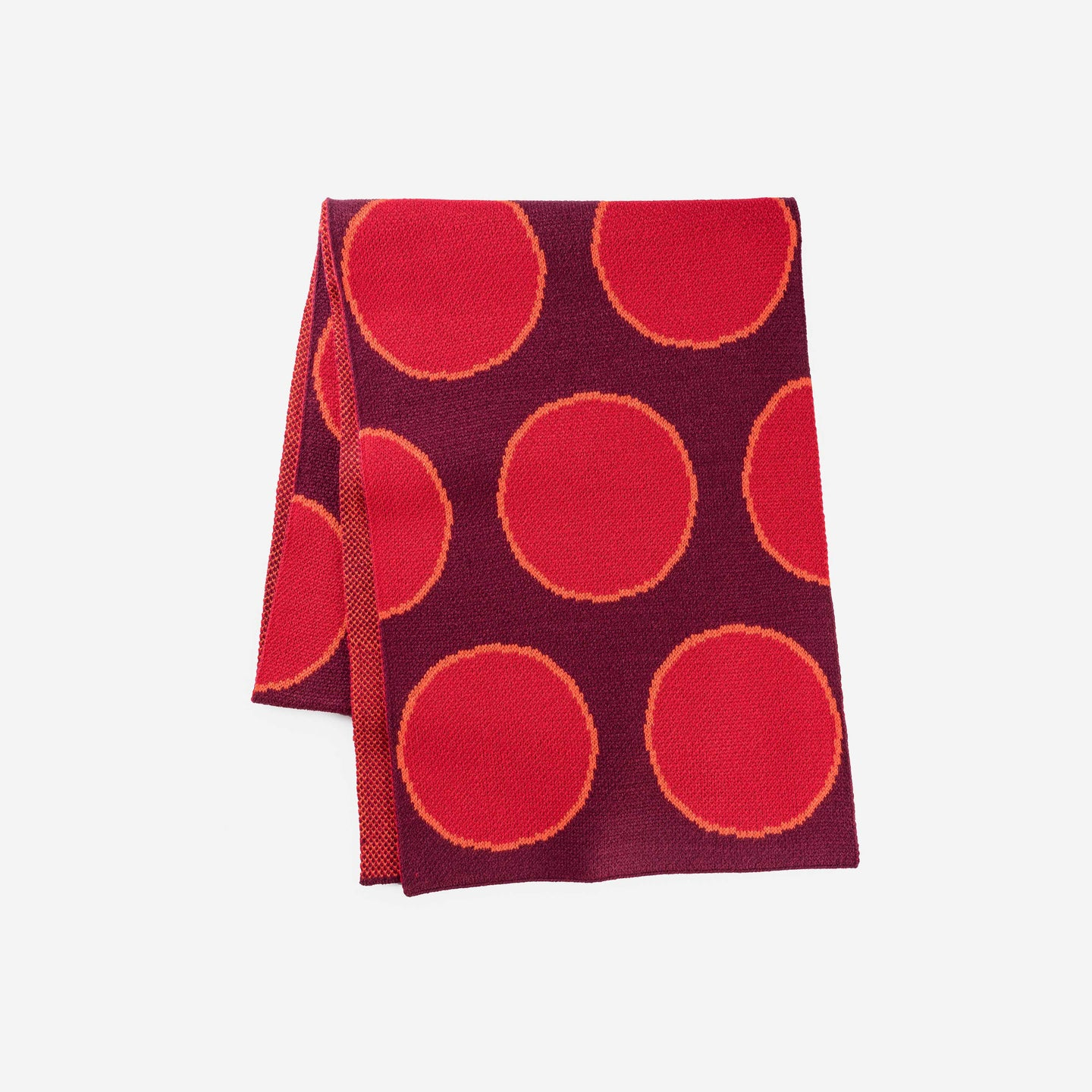 Eclipse Dot Umbra Scarf Jacquard Polka Dot Pattern Large