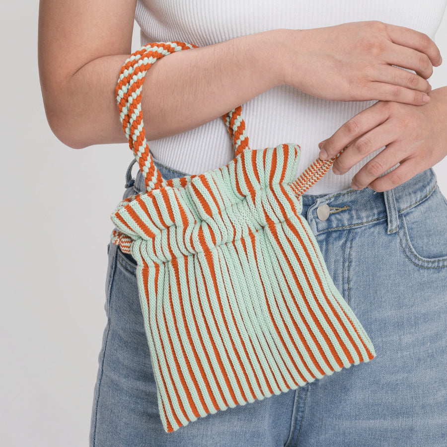Flame Jade | Candy Stripe Mini Tote