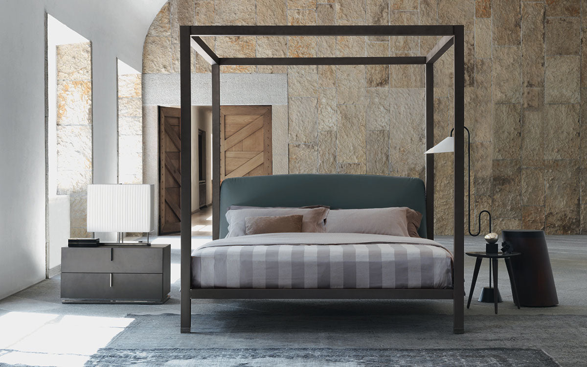 Abitalia South Coast work with Flou to supply the Ari bed from Italy