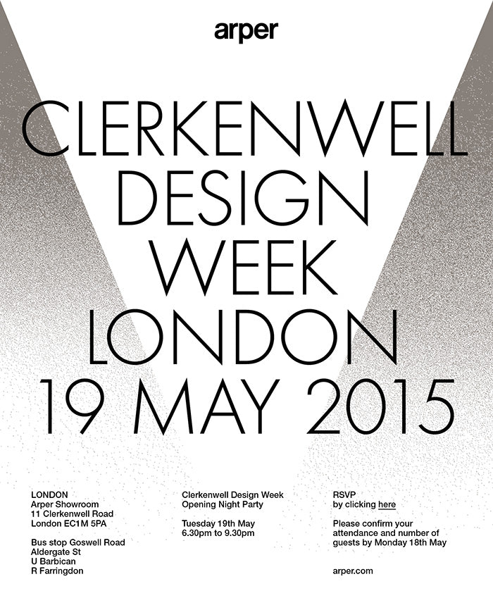 Clerkenwell Design Week London 19 May 2015